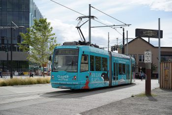 """<a href=""""https://commons.wikimedia.org/wiki/File:Streetcar_301_in_South_Lake_Union,_Seattle.jpg"""">Dllu</a>, <a href=""""https://creativecommons.org/licenses/by-sa/4.0"""">CC BY-SA 4.0</a>, via Wikimedia Commons"""