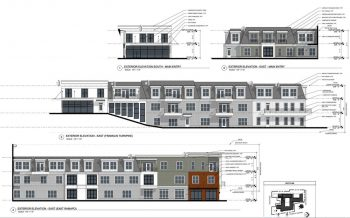 Rendering of proposed transit-oriented senior housing and retail, Mahwah, New Jersey. Courtesy of the Township of Mahwah