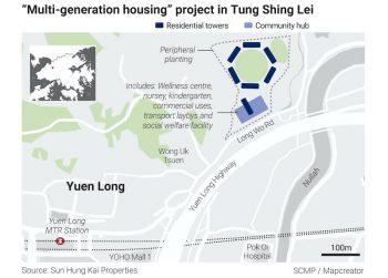 Map. Courtesy of Sun Hung Kai Properties