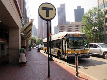 """<a href=""""https://commons.wikimedia.org/wiki/File:MBTA_route_92_bus_at_Haymarket_station,_July_2019.JPG"""">Pi.1415926535</a>, <a href=""""https://creativecommons.org/licenses/by-sa/3.0"""">CC BY-SA 3.0</a>, via Wikimedia Commons"""