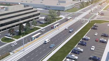 Rendering of the Golden Mile LRT Station courtesy Metrolinx