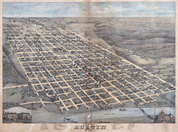 An 1873 Map of Austin, Texas, an expansive grid