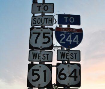 Highway signs, Tulsa, OK