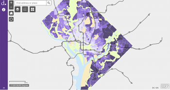 Transportation equity mapping. Courtesy of the DC Department of Transportation